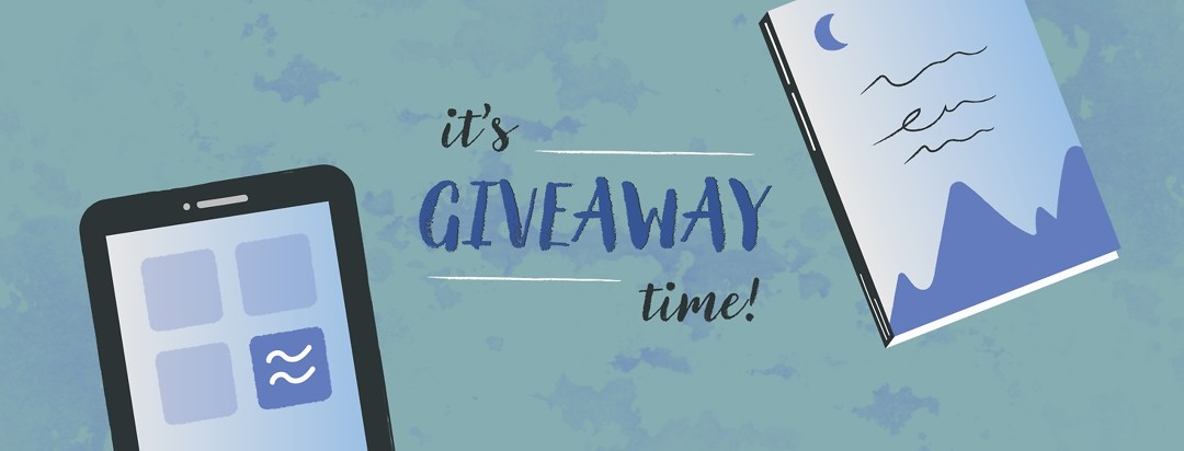 It's Giveaway Time, the calm app and a sleep book