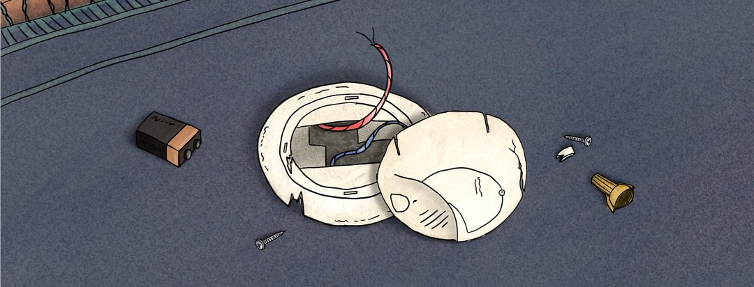 Carbon monoxide detector broke non the ground