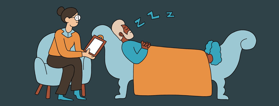 a man practices good sleep hygiene while also undergoing cognitive behavioral therapy